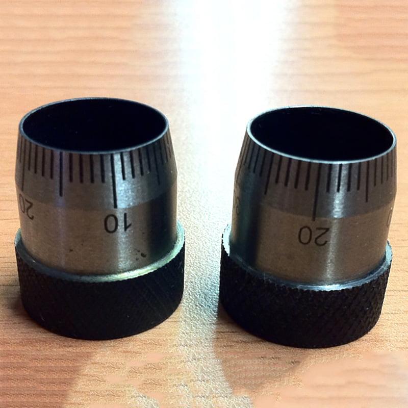 Laser Mark Scaling on Stainless Steel Knob.jpg