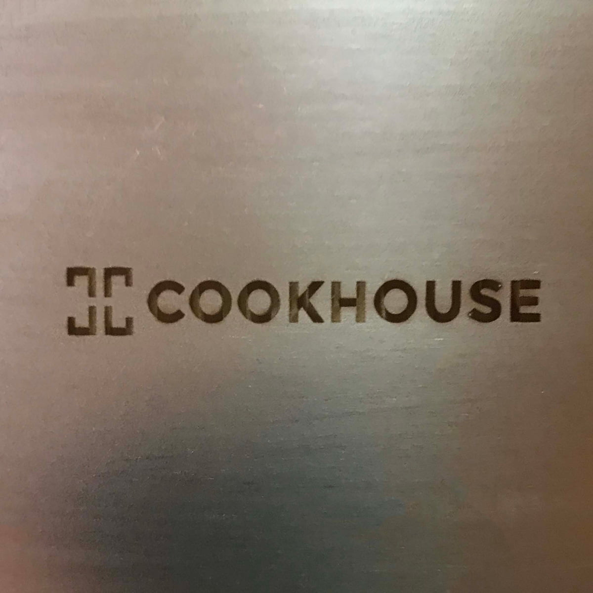 Laser mark on stainless steel cooking ware closeup
