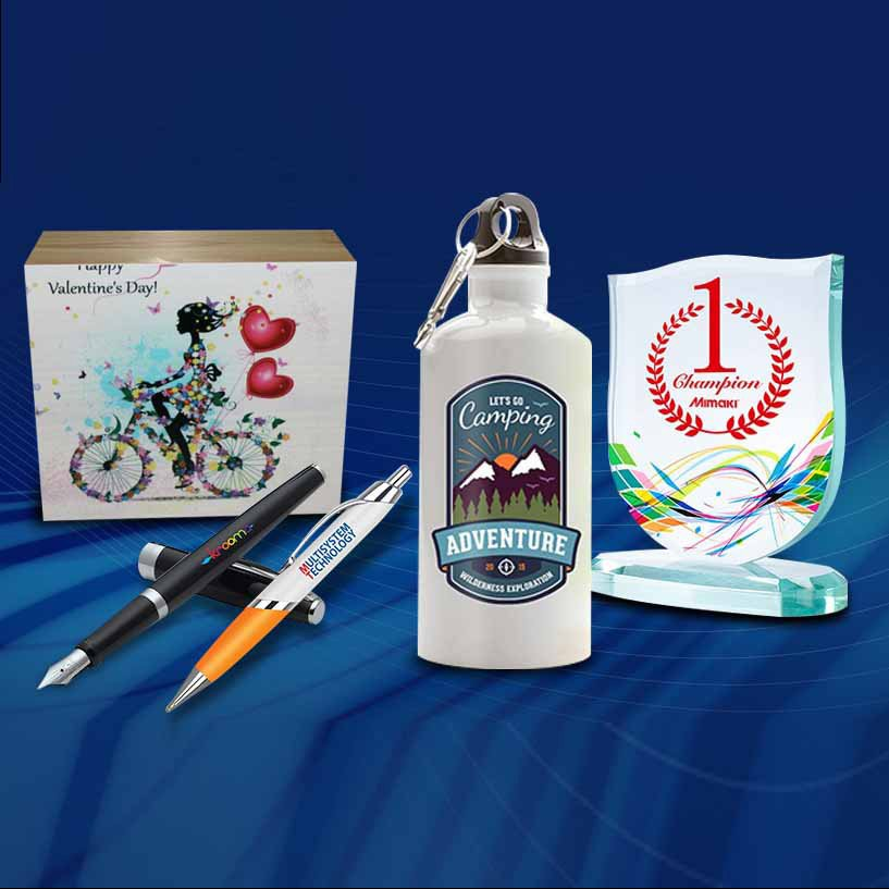 UV printed flask, UV printed pen, UV printed award, UV printed souvenir box